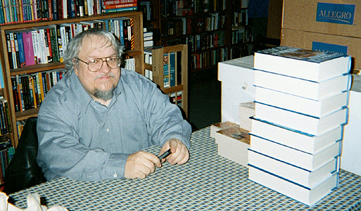GRRM and a stack of Storm of Swords