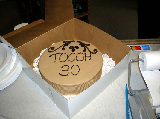 mocha cake for the 30th